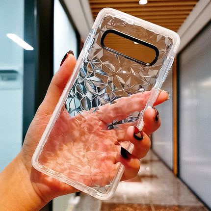 White Edge Crystal Glass Samsung Case - Available to all Samsung Phones
