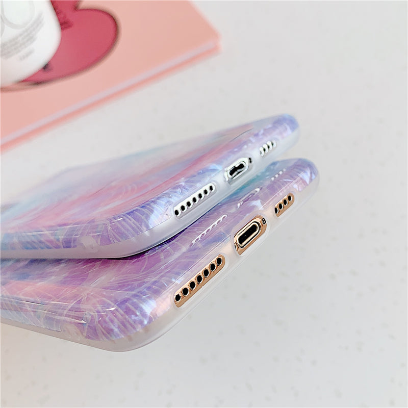 Purple Shell Pattern iPhone Case