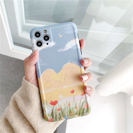 Oil Yellow Hills Sky iPhone Case