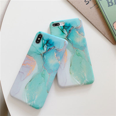 Mix Green Marble iPhone Case