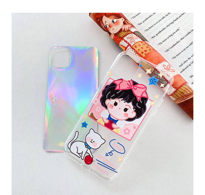 Princess Cartoon Laser iPhone Case