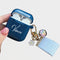 Custom Blue Airpods Case With Flowers Key Rings - Lethetea Accessories