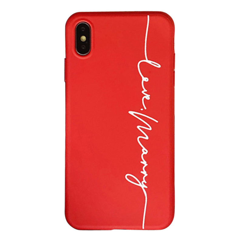 Custom Red Soft iPhone Case With Name - Lethetea Accessories