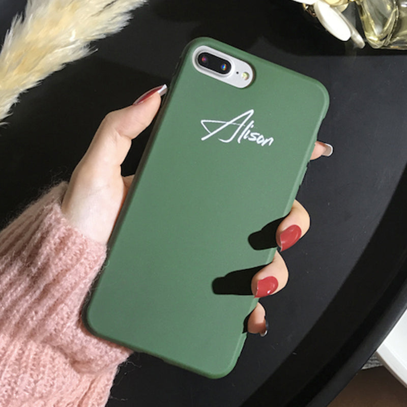 Custom Green Candy iPhone Case With Name