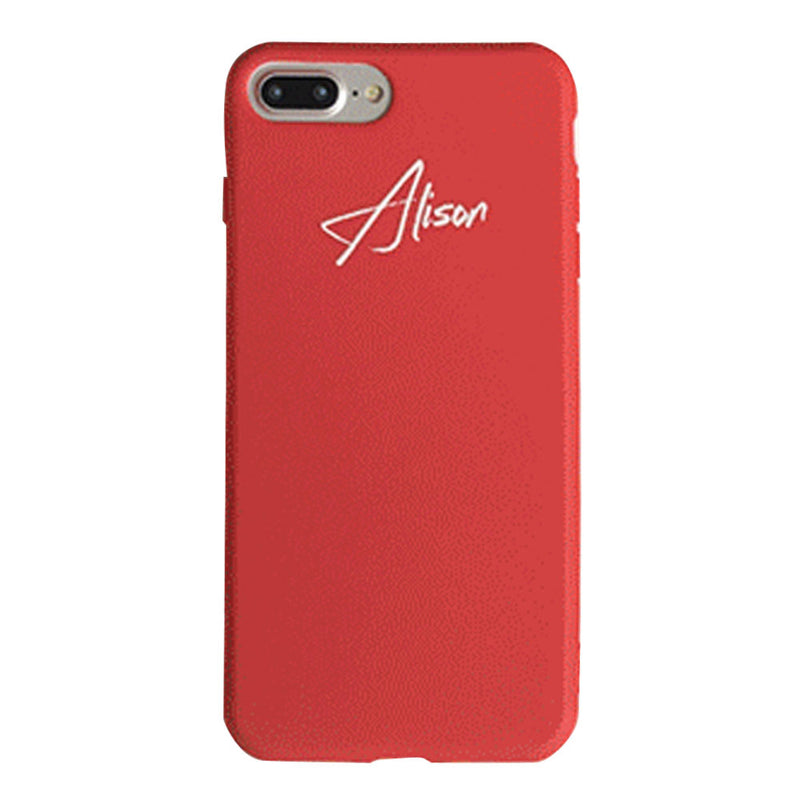 Custom Red Candy iPhone Case With Name - Lethetea Accessories