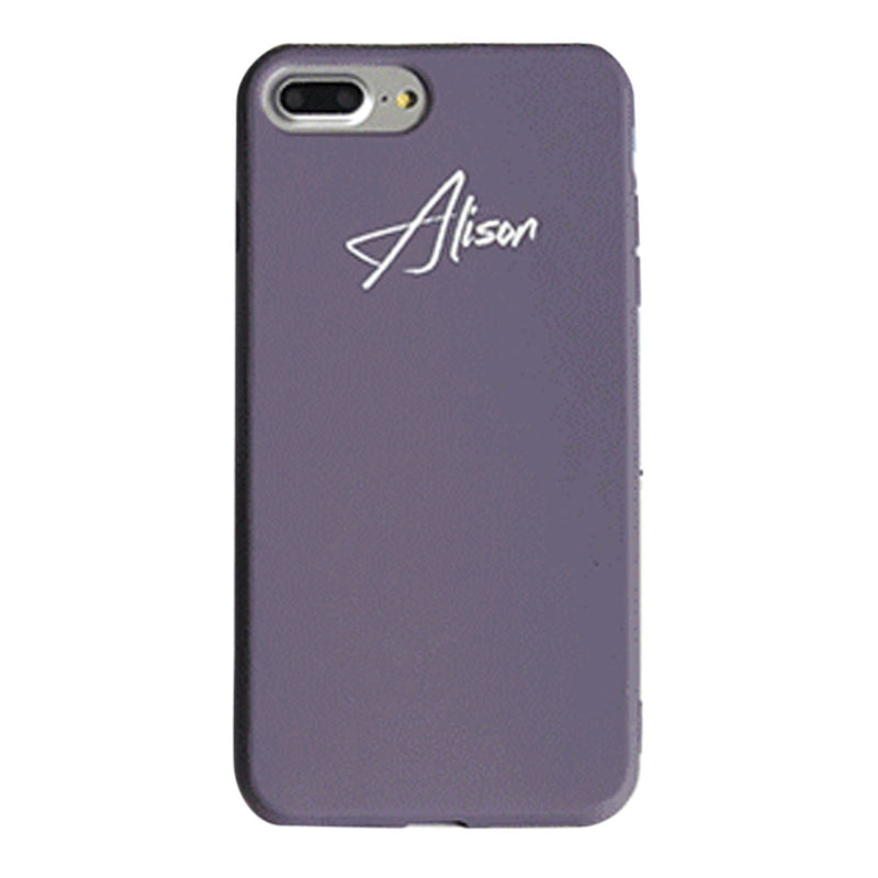 Custom Purple Candy iPhone Case With Name - Lethetea Accessories