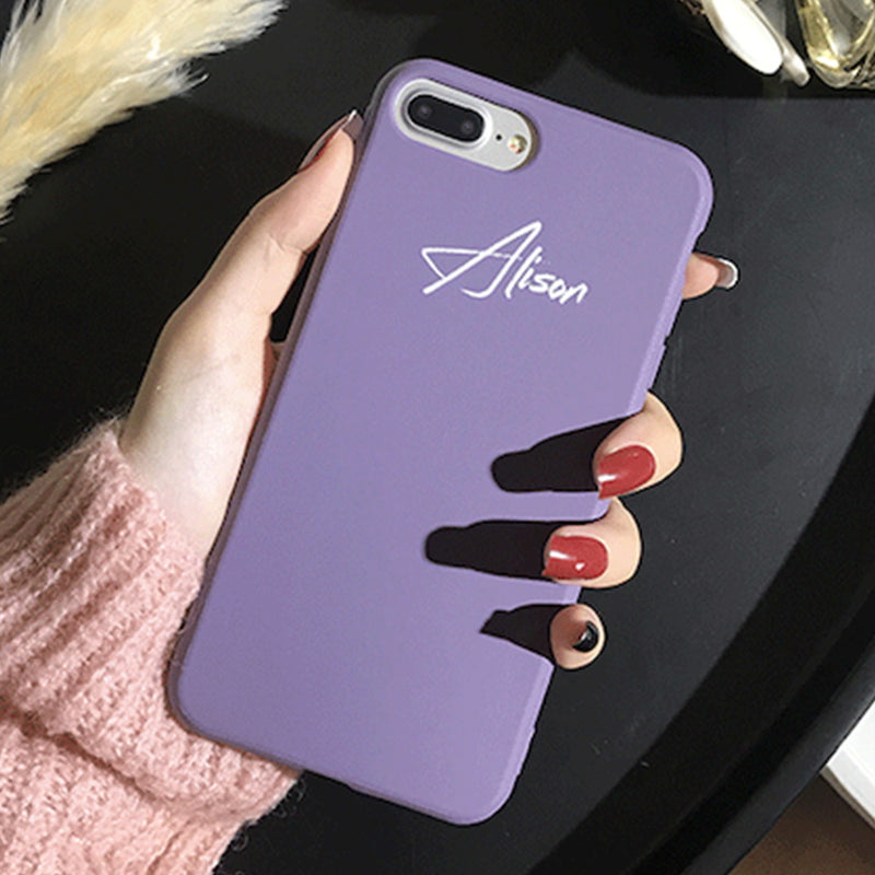 Custom Purple Candy iPhone Case With Name