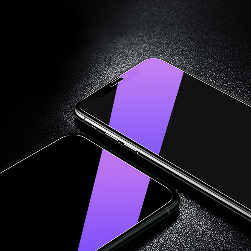 Anti Blue Light Purple Glass Screen Protector for 11Pro XS Max XR 7Plus iPhone8 6S 5S Display Anti Scratch Advanced HD Clarity