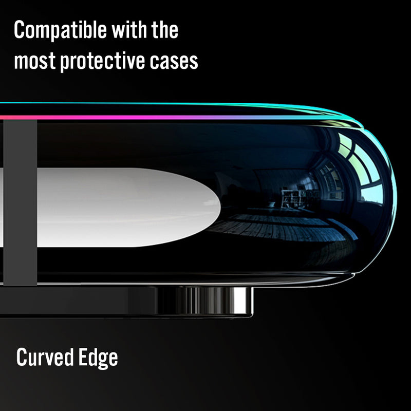 Curve Edge Full Cover Glass Screen Protector for 11Pro XS Max XR 7Plus iPhone8 6S 5S Display Anti Scratch Advanced HD Clarity