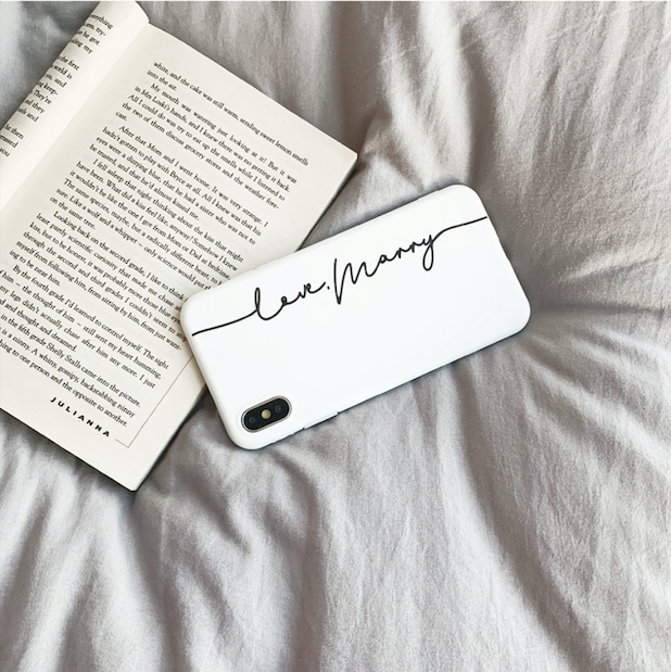 White Soft iPhone Case With Name
