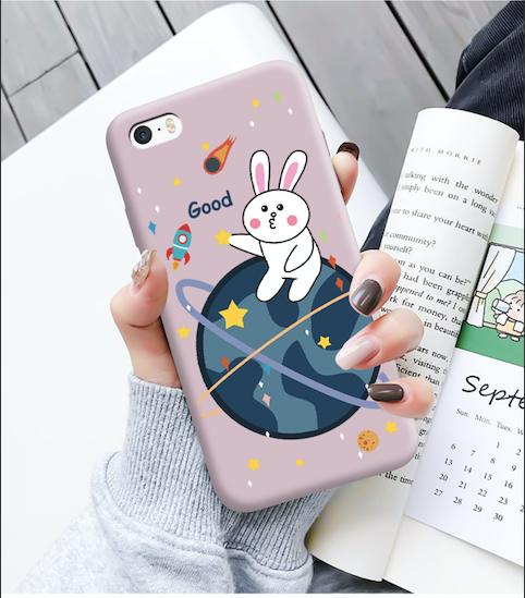Cartoon Rabbit iPhone SE Case