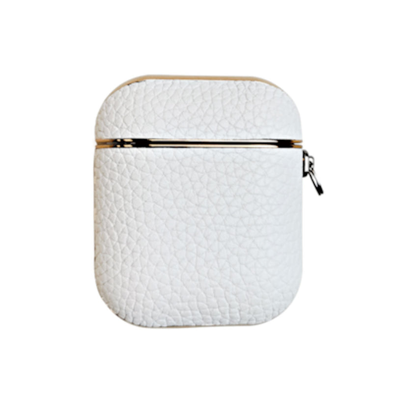 White Leather Airpods Case - Lethetea Accessories