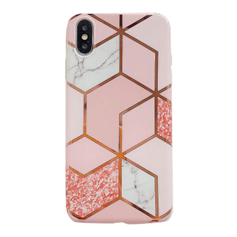 Pink Gold Glitter Marble iPhone Case