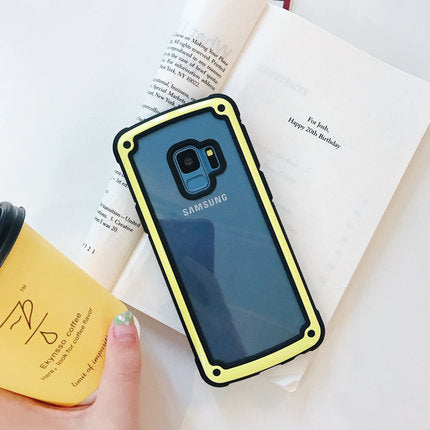 Yellow Soft Edge Samsung Case - Available to all Samsung Phones
