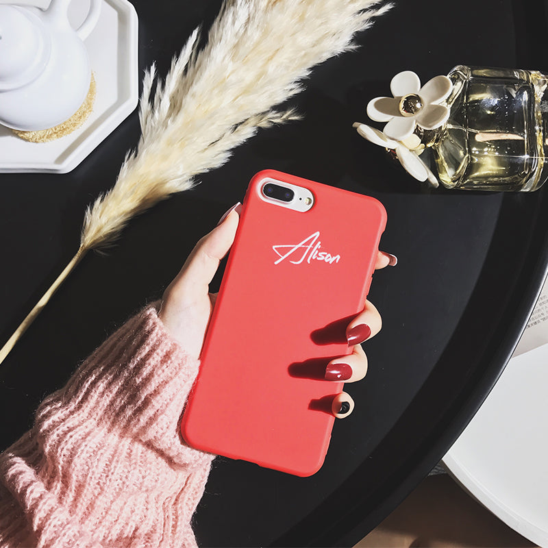 Custom Red Candy iPhone Case With Name