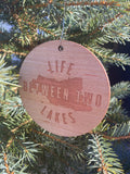 Life Between Two Lakes Ornament