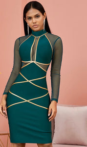 Emerald Bandage Dress