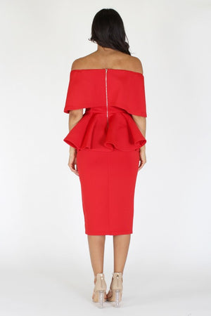 Fifth Ave Dress (PLUS SIZE) RED