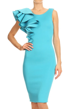 Monaco Ruffle Dress