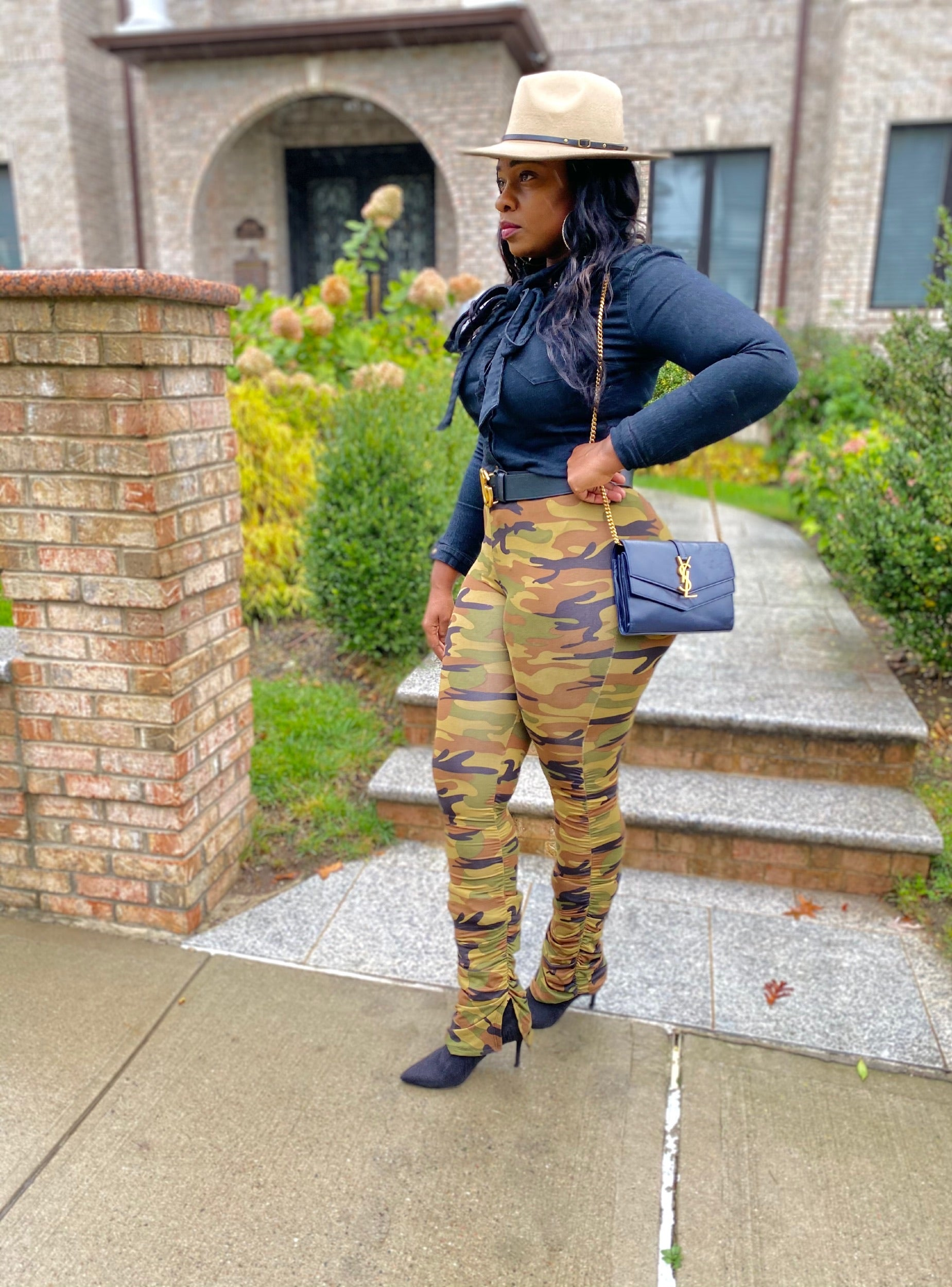 Ruched Camo Pants