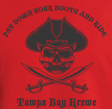 Pirate Put Down Your Booty And Ride Tank Top - Red - Ladies