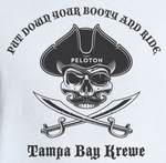 Pirate Put Down Your Booty And Ride Tank Top - White - Ladies