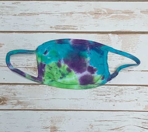 Tie Dye Face Mask - Purple, Teal & Lime