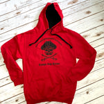 Pirate Put Down Your Booty And Ride Varsity Hoodie - Red - Unisex
