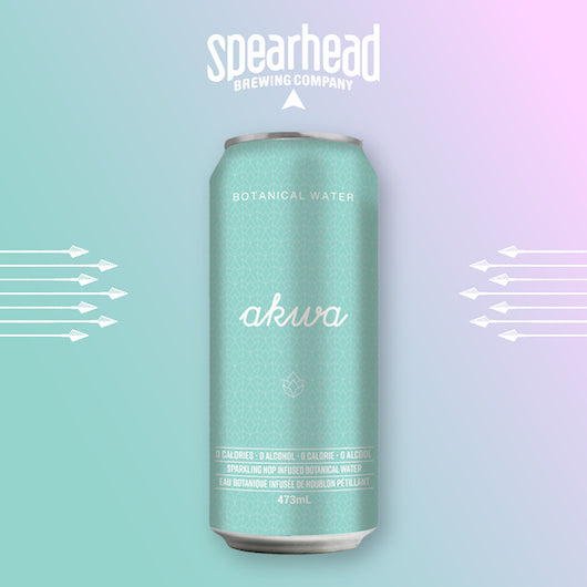Akwa botanical water from Spearhead brewing company. Sold individually or as a 6 pack or 24 pack case.