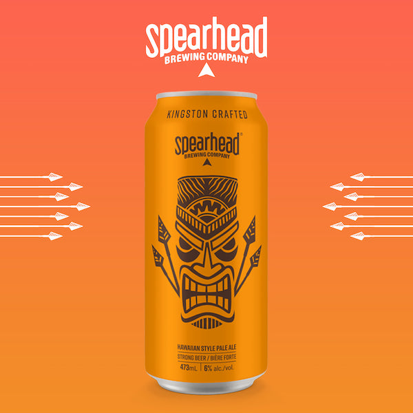 Hawaiian Style Pale ale from Spearhead brewing company - 6% alcohol in a tall boy can. Sold as a 6 pack.
