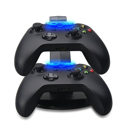 Xbox one 360 controller charger stand led lights