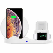 Load image into Gallery viewer, 3-in-1 Charging Dock Station with Qi Wireless Pad