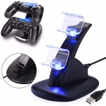 Load image into Gallery viewer, Playstation Controller Charging Dock Stand with LED Lights
