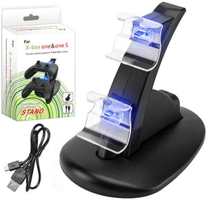 Xbox One Controller Stand Charging Dock Station with LED Lights