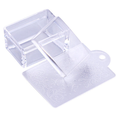 BORN PRETTY handle Transparent Nail Stamper for Stamping