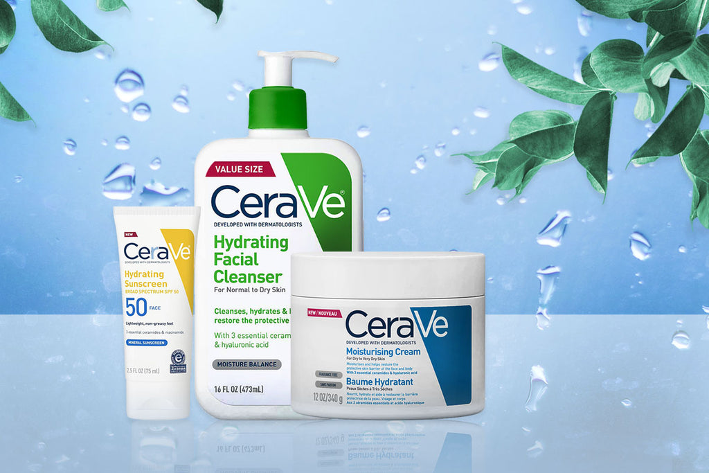Cerave Skincare Routine for Dry Skin in Dubai and Abu Dhabi and UAE at Shopey
