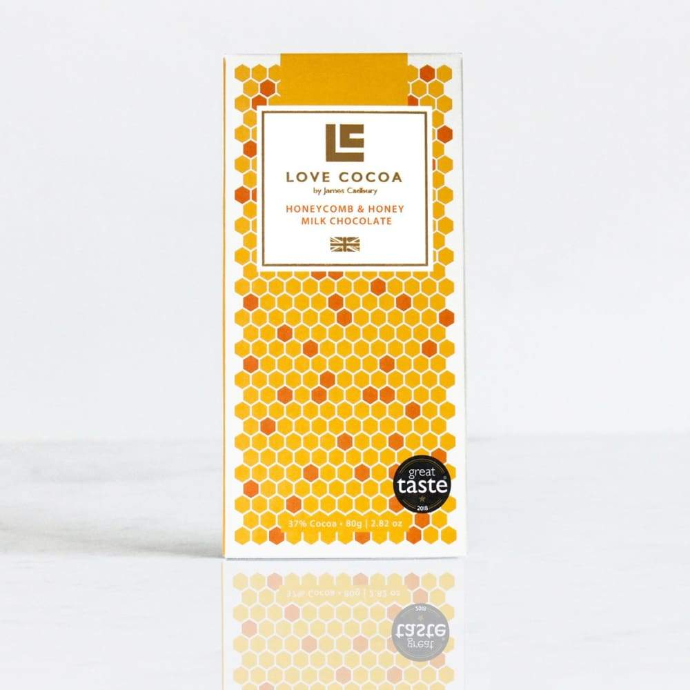 Honey & Honeycomb 37% Milk Chocolate Bar