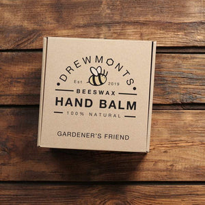 Handmade eco-friendly packaging for wrapping beeswax hand balm