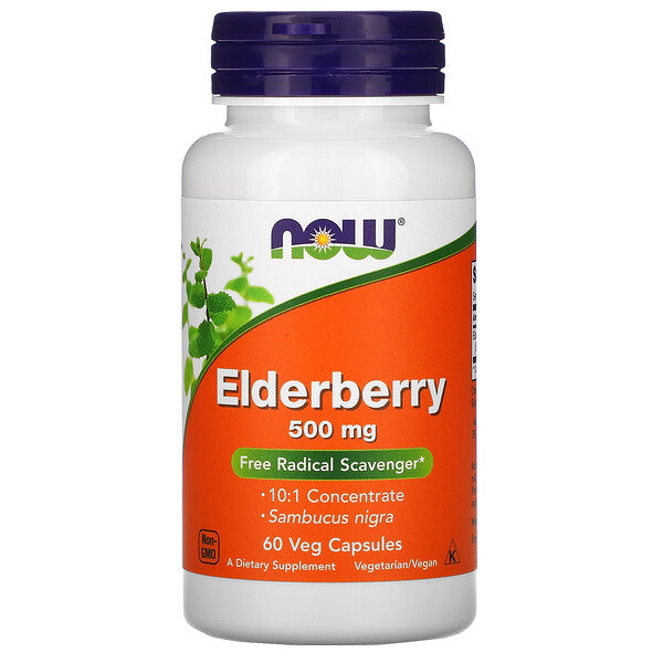 Now Vitamins Elderberry 500mg 60 ct.