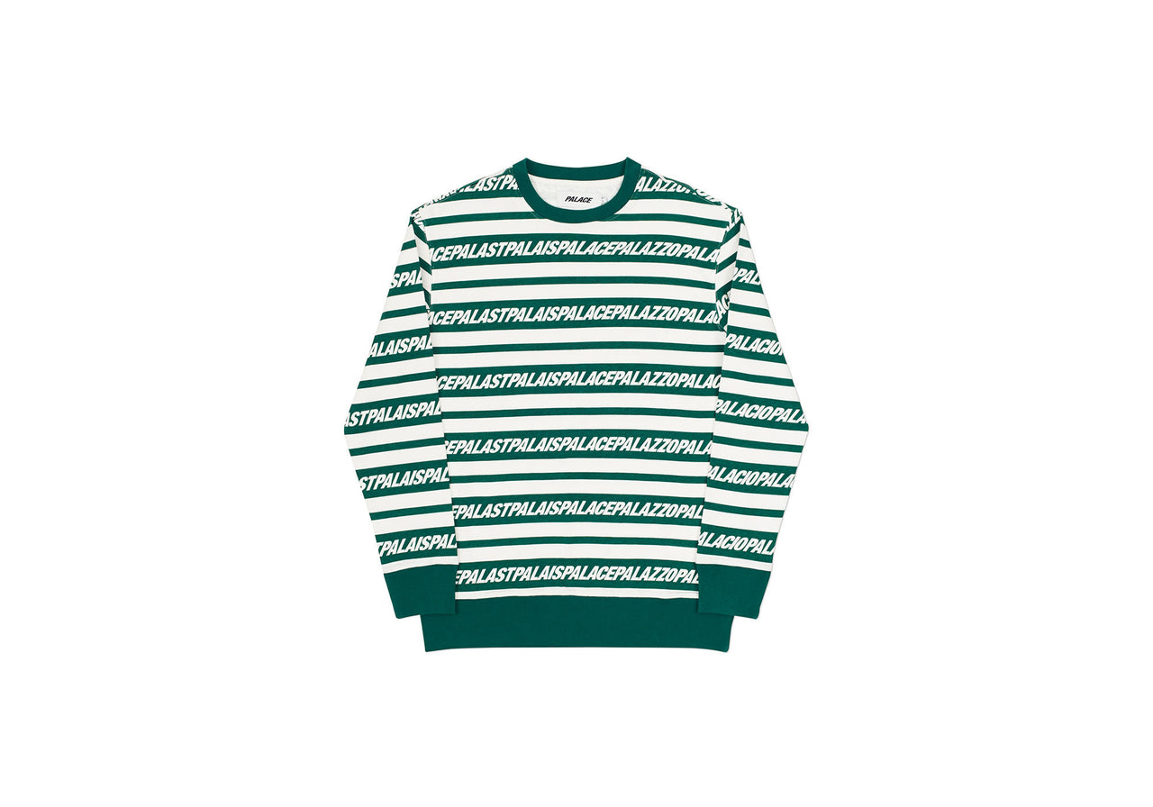 MULTI LINGUAL CREW GREEN / WHITE