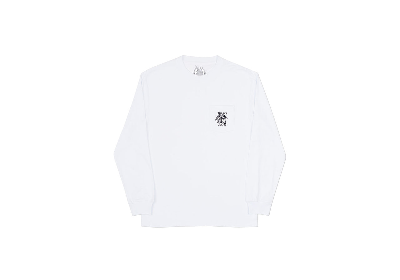 P JEANS POCKET LONGSLEEVE WHITE