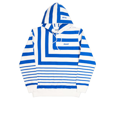 ANGLO HOODY BLUE / WHITE