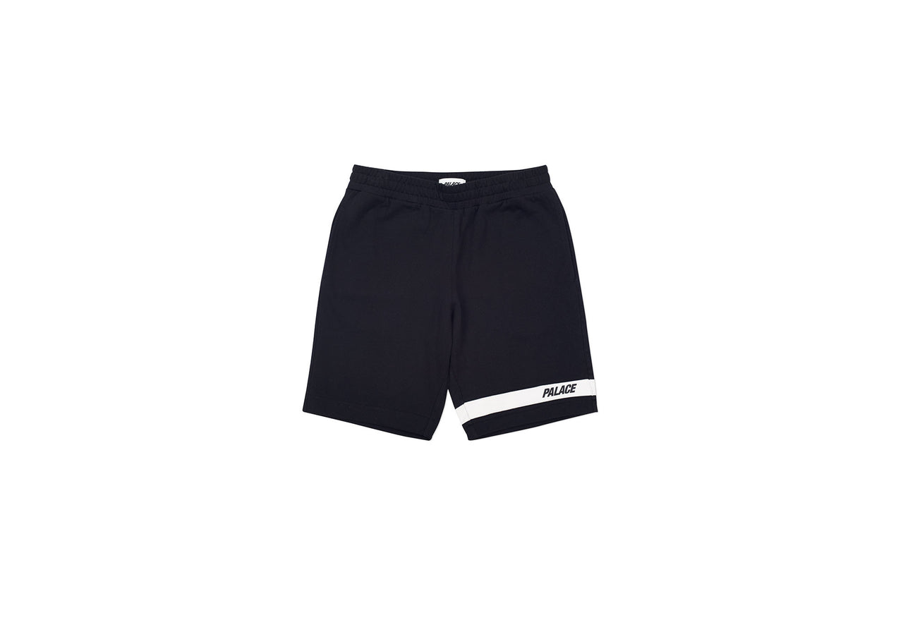 JERSEY DRILL SHORTS BLACK / WHITE