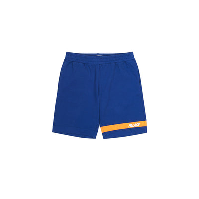 JERSEY DRILL SHORTS BLUE / ORANGE