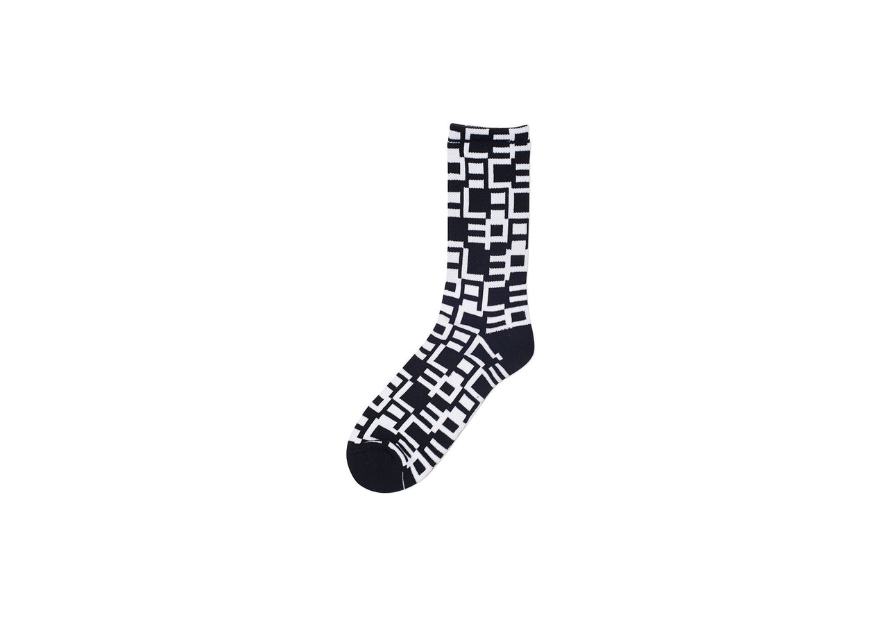STEPPER SOCK WHITE / BLACK