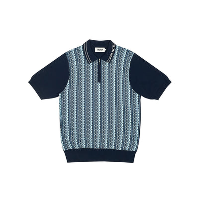 ZIP KNIT NAVY