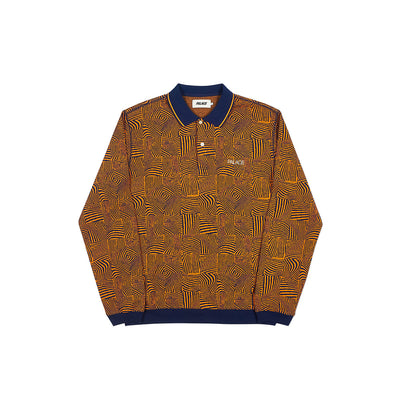 WAVED POLO NAVY / ORANGE