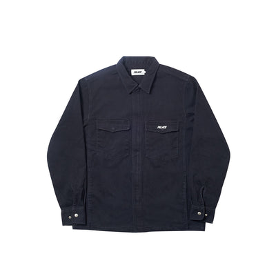 WEIGHT ZIP OVERSHIRT NAVY