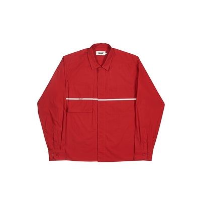 S-PLAKET OVERSHIRT RED