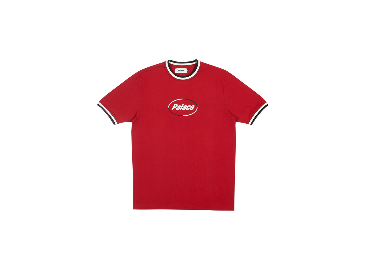 TRIPPER RIB T-SHIRT RED